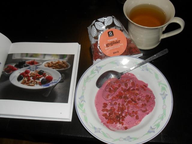 Yoghurt med gojibär