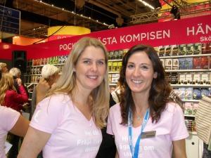 Charlotta och Stephanie från Bonnierförlagen
